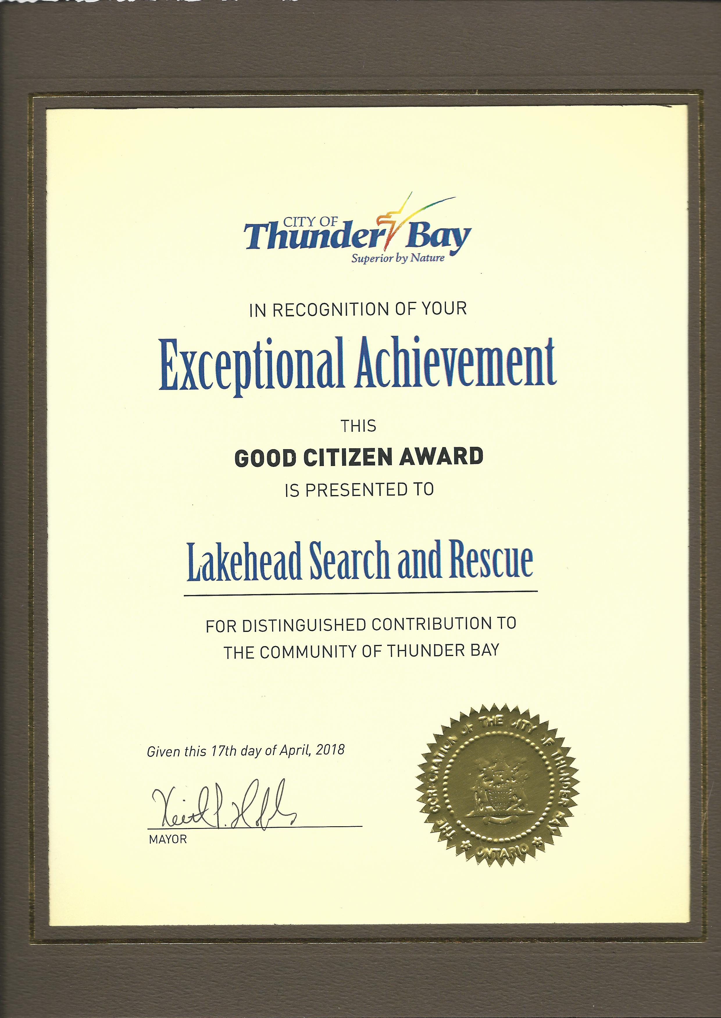 Lsru News Lakehead Search Rescue Unit